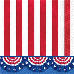 American Pride Luncheon Napkins | Party Supplies