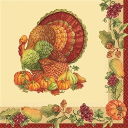 Joyful Thanksgiving Luncheon Napkins | Party Supplies