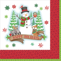 Winter Friends Luncheon Napkins | Party Supplies