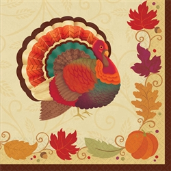 Thanksgiving Holiday Luncheon Napkins | Party Supplies