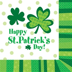 St. Patrick's Day Cheer Lunch Napkins | Party Supplies