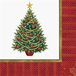 Twinkling Tree Luncheon Napkins | Party Supplies