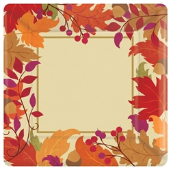 "Festive Falls Square 10"" Plates 