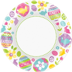 "Egg Hunt Round 10"" Plates 