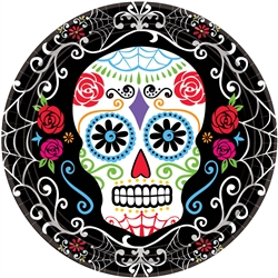 "Day of the Dead 10-1/2"" Round Plates 