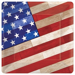 "Old Glory 10"" Square Paper Plates 