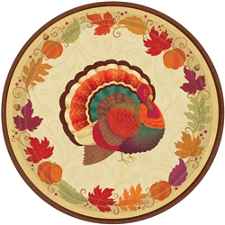 "Thanksgiving Holiday Round 10-1/2"" Plates 