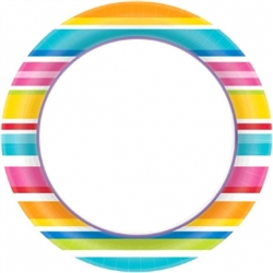 "Multi Stripe Border 10"" Plates  
