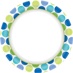 "Cool Dots Border 10"" Plates 
