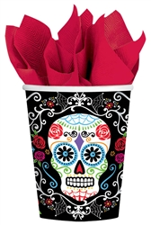 Day of the Dead 9 oz. Cups | Halloween Party Supplies