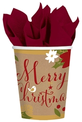 Merry Little Christmas 9oz Paper Cups | Party Supplies