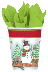 Winter Friends 9oz Paper Cups | Party Supplies