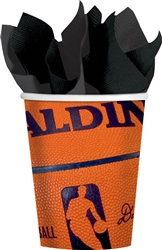 Spalding Basketball 9 oz. Paper Cups | Party Supplies