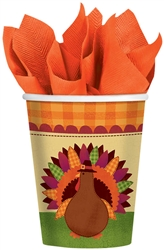 Turkey Dinner 9 oz. Paper Cups | Party Supplies