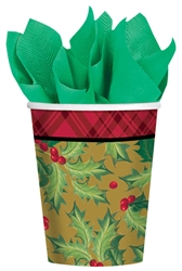 Winter Warmth 9oz. Paper Cups | Party Supplies