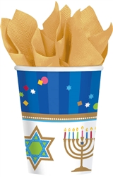 Hanukkah Celebrations 9oz. Paper Cups | Party Supplies
