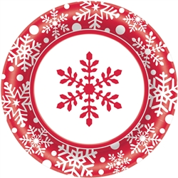 "Winter Holiday 8-1/5"" Paper Plates 