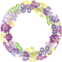 "Blooming Florals 8-1/2"" Plates 