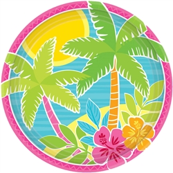 "Summer Scene 7"" Round Plates 
