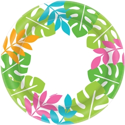 "Palm Leaf Border 8-1/2"" Plates 