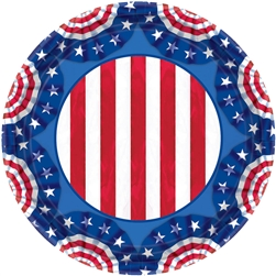"American Pride 7"" Round Plates 