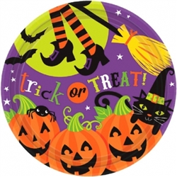 "Witch's Crew 7"" Round Plates 