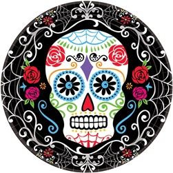 "Day of the Dead 7"" Round Plates 