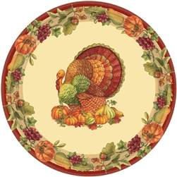 "Joyful Thanksgiving Round 7"" Plates 