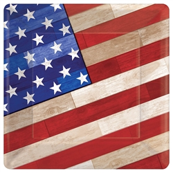 "Old Glory 7"" Square Paper Plates 