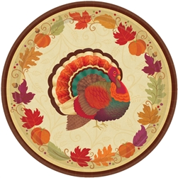 "Thanksgiving Holiday Round 7"" Plates 