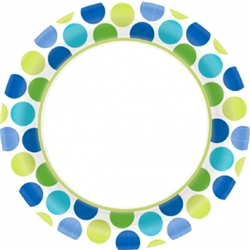 "Cool Dots Border 8-1/2"" Plates 