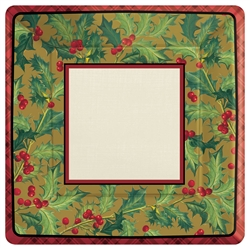 "Winter Warmth 7"" Square Paper Plates 