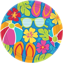 "Summer Splash 7"" Round Plates 