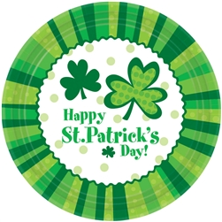 "St. Patrick's Day Cheer 7"" Round Plates 