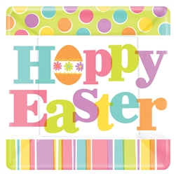 "Easter Expressions Square 7"" Plates 