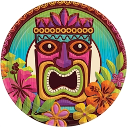 "Tropical Tiki 7"" Round Plates 