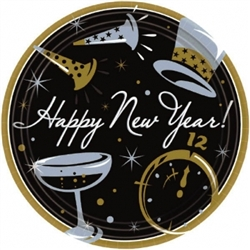 Black Tie Affair Round Plates | New Year's Eve Tableware