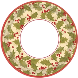 "Winter Holly 7"" Round Paper Plates 