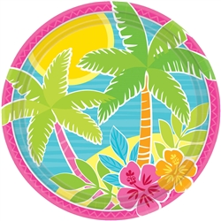 "Summer Scene 9"" Round Plates 