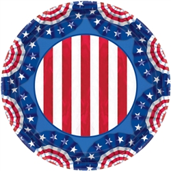 "American Pride 9"" Round Plates 