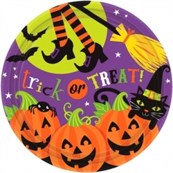 "Witch's Crew 9"" Round Plates 