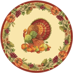 "Joyful Thanksgiving Round 9"" Plates 