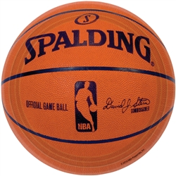 "Spalding Basketball 9"" Round Paper Plates 