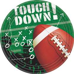 "Football Frenzy 9"" Plates 