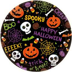 Spooktacular Round Plates, 9"