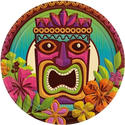 "Tropical Tiki 9"" Round Plates 