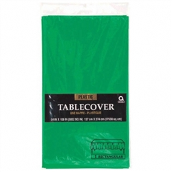 "Festive Green 54"" x 108"" Plastic Table Cover 