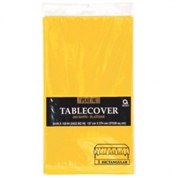 "Yellow Sunshine 54"" x 108"" Plastic Table Cover 