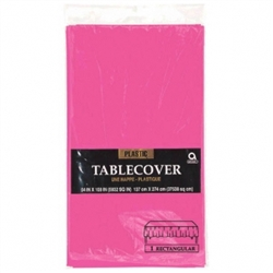 Pink Plastic Table Cover | Tableware Party Supplies