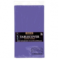 "New Purple 54"" x 108"" Plastic Table Cover 